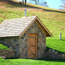 Traditional Garage And Shed by Country Mountain Homes Llc