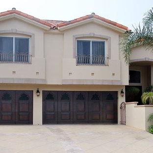 Indian Style Custom Wood Garage Doors Designed for a Corona del Mar CA Residence
