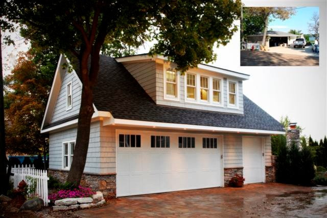 Traditional Garage And Shed by GETAdesign, LLC