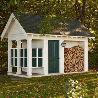 Idee per un capanno da giardino o per gli attrezzi indipendente chic