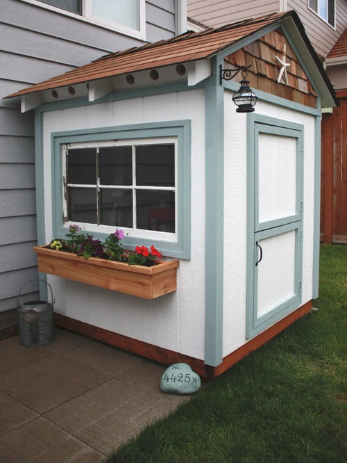 elegant garden shed photo in other