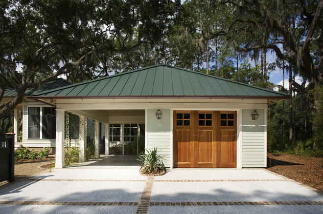 Traditional Garage And Shed by Frederick + Frederick Architects