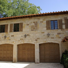 Mediterranean Garage And Shed by Seal Design Group