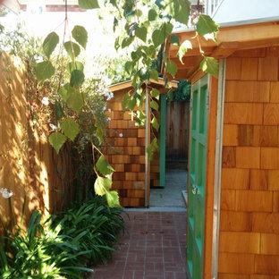 Inspiration för mellanstora amerikanska fristående trädgårdsskjul