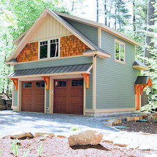 Traditional Garage And Shed by McCall Construction