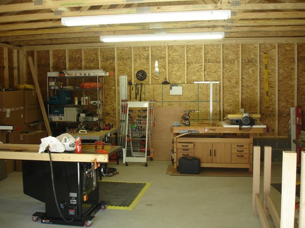 Modern Garage And Shed by P. L. Johnson Construction, Inc.