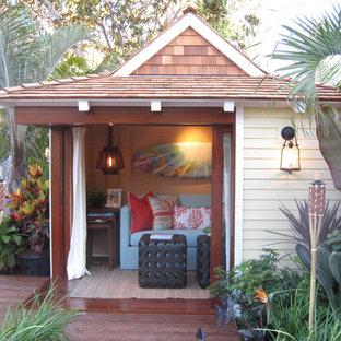 Inspiration för ett tropiskt fristående gästhus