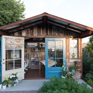Example of a mid-sized cottage chic detached studio / workshop shed design in San Luis Obispo