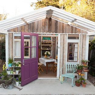 Inspiration for a mid-sized shabby-chic style detached guesthouse remodel in San Luis Obispo