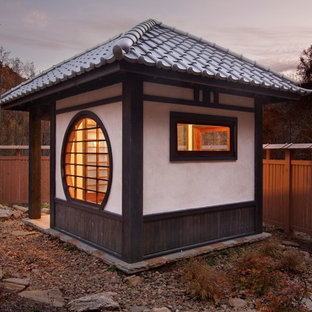 Design ideas for a small asian detached shed and granny flat in Other.