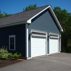 Traditional Garage And Shed by Fortin Construction, Inc.