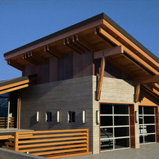 Modern Garage And Shed by Ursus Mountain Homes of Revelstoke