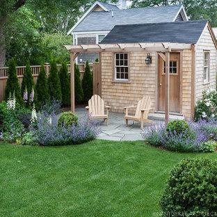 Idéer för vintage fristående trädgårdsskjul