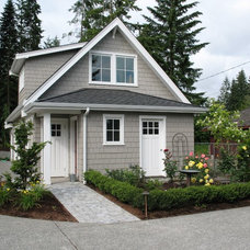 Traditional Garage And Shed by Malone's Landscape Design | Build