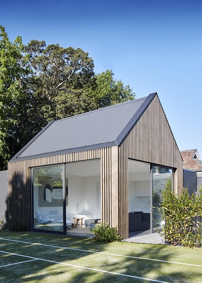 Contemporary Shed by Mirabuild