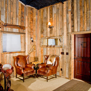 Mid-sized mountain style detached barn photo in Denver