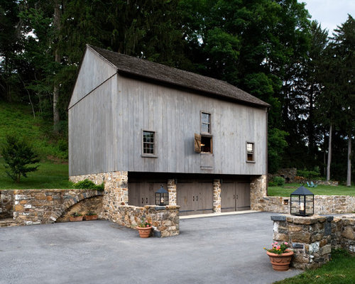Houzz Bank Barn Garage And Shed Design Ideas Remodel