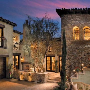 Mediterranean Stone Courtyard
