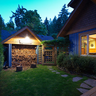 Photo of a traditional detached garden shed in Vancouver.