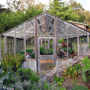 Greenhouse - shabby-chic style detached greenhouse idea in San Francisco & 75 Trendy Detached Greenhouse Design Ideas - Pictures of Detached ...