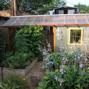 Design ideas for an urban garden shed and building in Philadelphia.