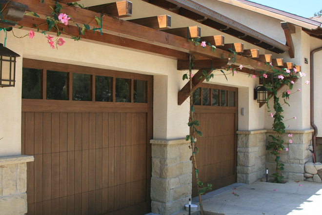 Trellis over garage door and windows