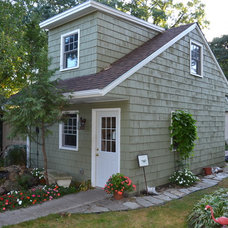 Traditional Garage And Shed by Ridge Construction LLC