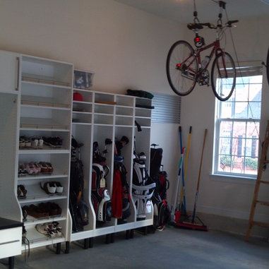 Golf Club Rack Design Ideas, Pictures, Remodel and Decor