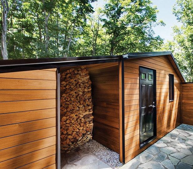 Модернизм Хозпостройки by PPG PROLUXE Wood Finishes