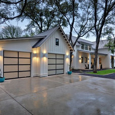 Farmhouse Garage And Shed by Redbud Custom Homes