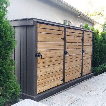 Modern Garbage, Recycling and Green Bin Storage Shed