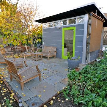 Modern Home Office in a rustic backyard setting