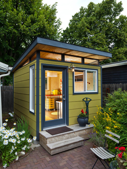 Modern garage and shed design ideas pictures remodel decor for Detached home office