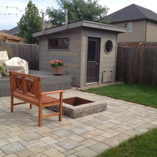 Inspiration for a small modern detached garden shed in Toronto.