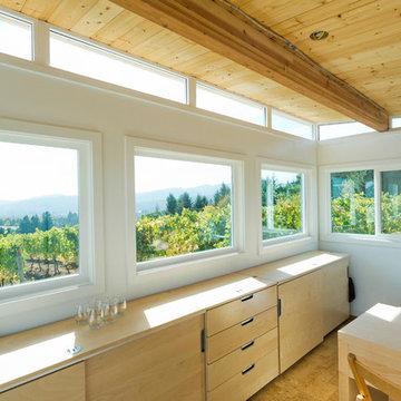 Modern-Shed vineyard office