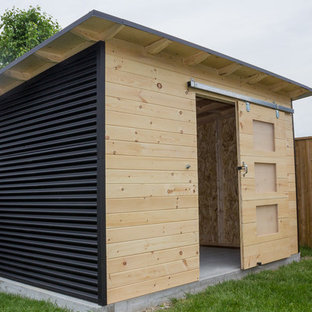 Modern Steel and Pine Backyard Shed London On