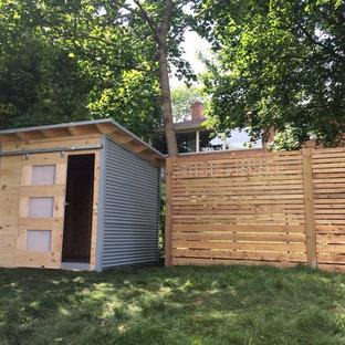 Idées déco pour un petit abri de jardin séparé moderne.