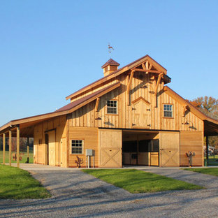 This is an example of an expansive country detached barn in Nashville.