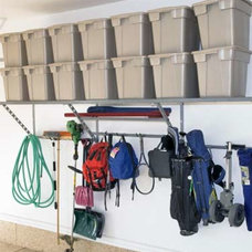 Traditional Garage And Shed by Monkey Bars Garage Storage Systems