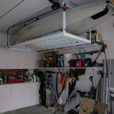 Traditional Garage And Shed by ONRAX Overhead Storage