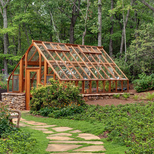 Elegant detached greenhouse photo in Atlanta & 30 Trendy Greenhouse Design Ideas - Pictures of Greenhouse ...