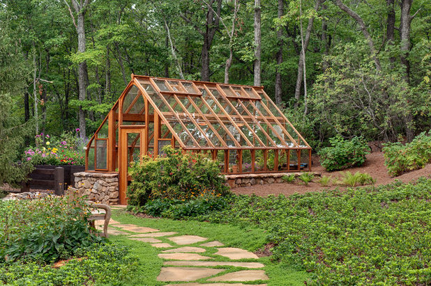 Traditional Garden Shed and Building by Land Plus Associates, Ltd