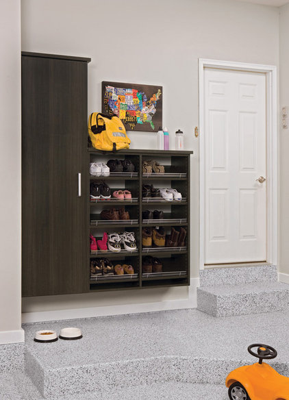 contemporary garage and shed by Closets & Blinds