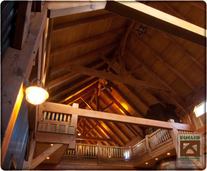Traditional Garage And Shed by Euclid Timber Frames, LC