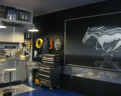 Mustang garage houzz for Room decorating tool