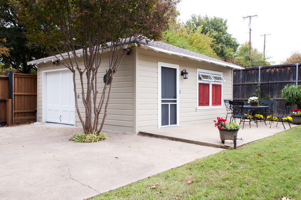 Traditional Garage And Shed by Angela Flournoy