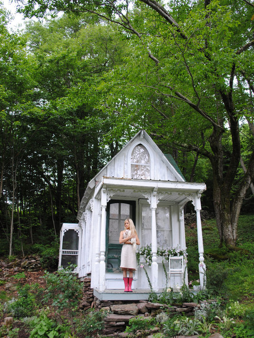 shabby chic style detached shed idea in new york - Renovate My House