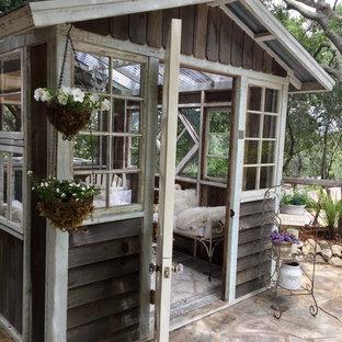 Shabby chic style gartenhaus ideen design bilder houzz - Gartenhaus shabby chic ...