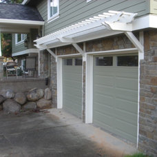 Traditional Garage And Shed by Brown Bros. Masonry