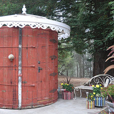 Eclectic Patio Nearly completed water tank bathroom